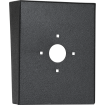 "Portrait Black Steel Hood (8"" W x 10"" H x 3"" D) back"