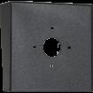 "Square Black Steel Hood (8"" H x 8"" H x 3"" D) back"