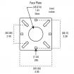 "42"" Black Steel Low Profile Pedestal (Pad Mount) 42-2LP (Dimensions Shown For Scale)"