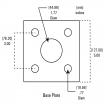 "42"" Stainless Steel Gooseneck Pedestal (Pad Mount) Bottom Specifications"