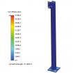 "42"" Black Steel Low Profile Pedestal (Pad Mount) 42-2LP (Stress Test)"
