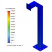"42"" Black Square Gooseneck Pedestal (Pad Mount) 42-3-12 - Stress Test"
